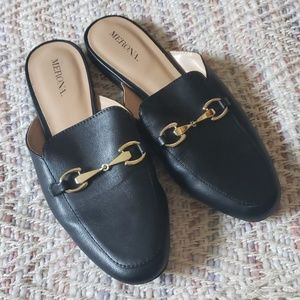 MERONA Black Loafer Mules Size 7